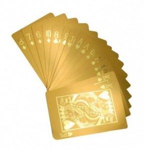 gold poker cards gift idea for anniversary